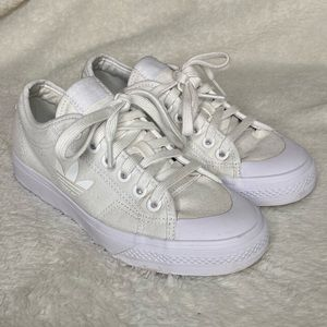 Adidas Nizza Trefoil Shoe Size 7 White